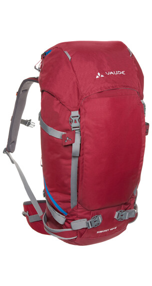 VAUDE Simony 40+8 - Mochilas trekking y senderismo - rojo
